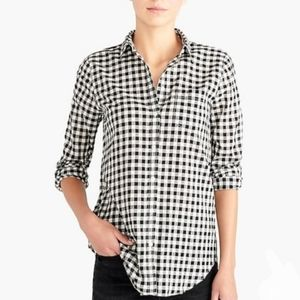 J.Crew Factory Perfect Shirt Gingham